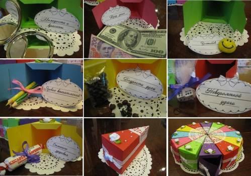 Коробочка с пожеланиями на день рождения своими руками