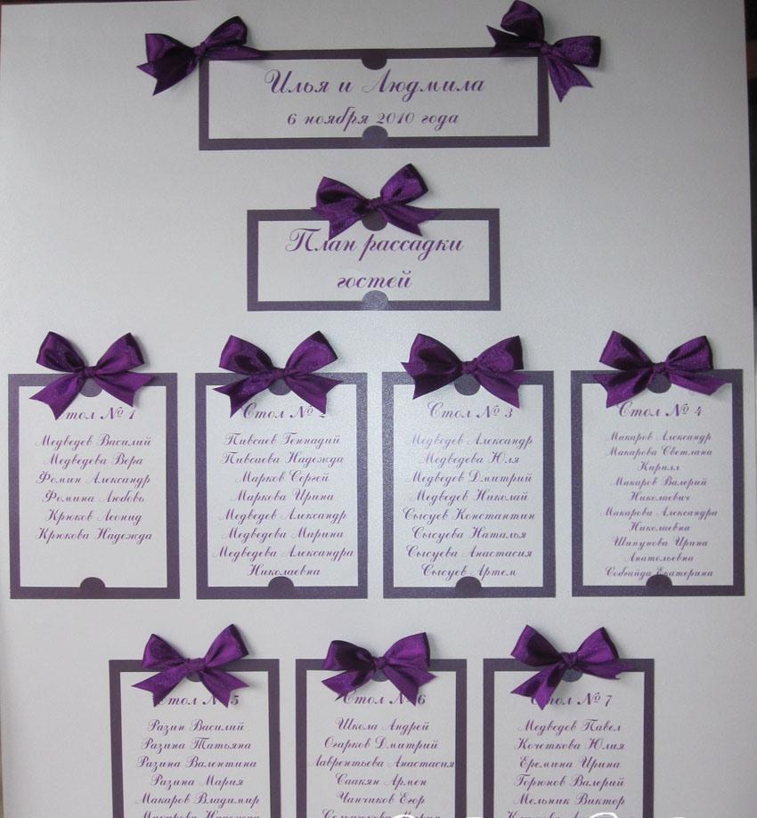 Схема рассадки гостей на свадьбе своими руками сделать